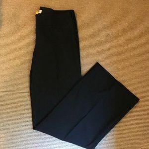 Trina Turk silk wide leg black dress pants